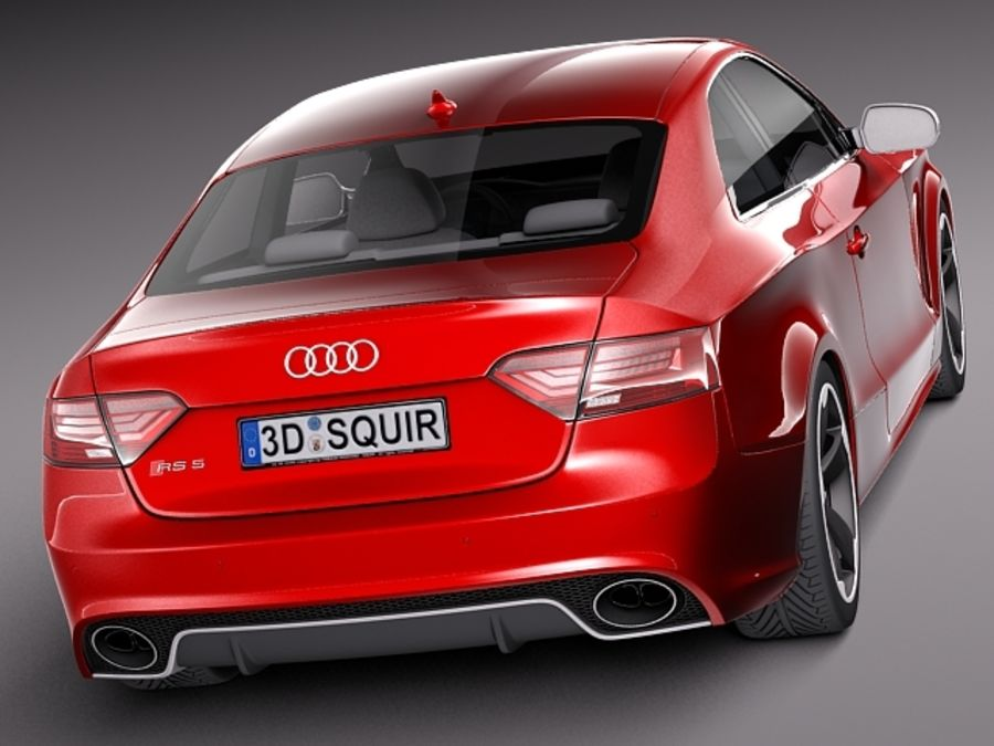 Audi RS5 2012 royalty-free 3d model - Preview no. 5