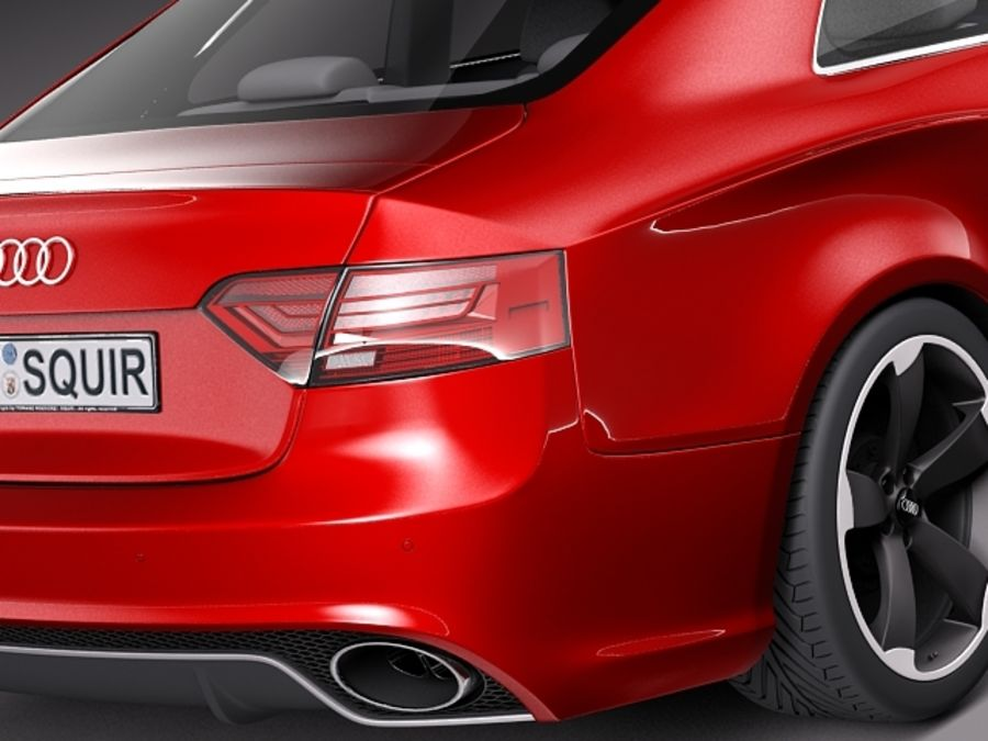 Audi RS5 2012 royalty-free 3d model - Preview no. 4