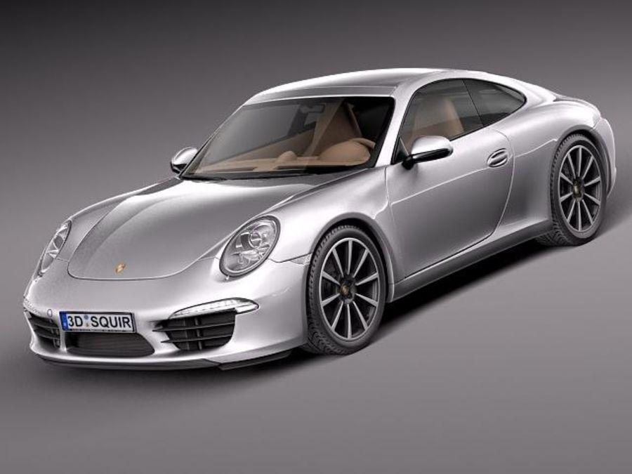 Porsche 911 Carrera 2013 royalty-free 3d model - Preview no. 1