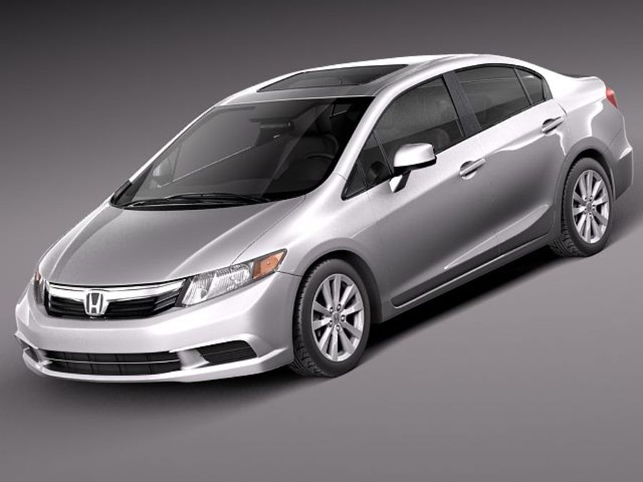 Honda Civic Sedan Usa 2013 3D Model 129