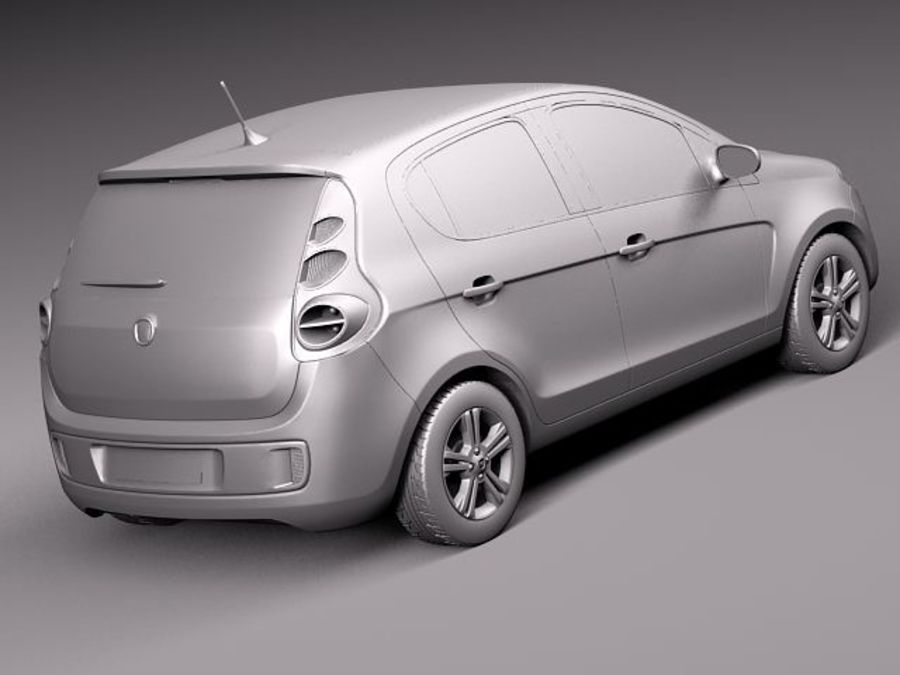 Fiat Palio 2012 royalty-free 3d model - Preview no. 12
