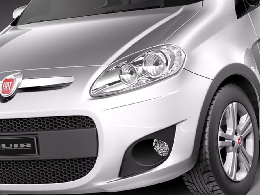 Fiat Palio 2012 royalty-free 3d model - Preview no. 3