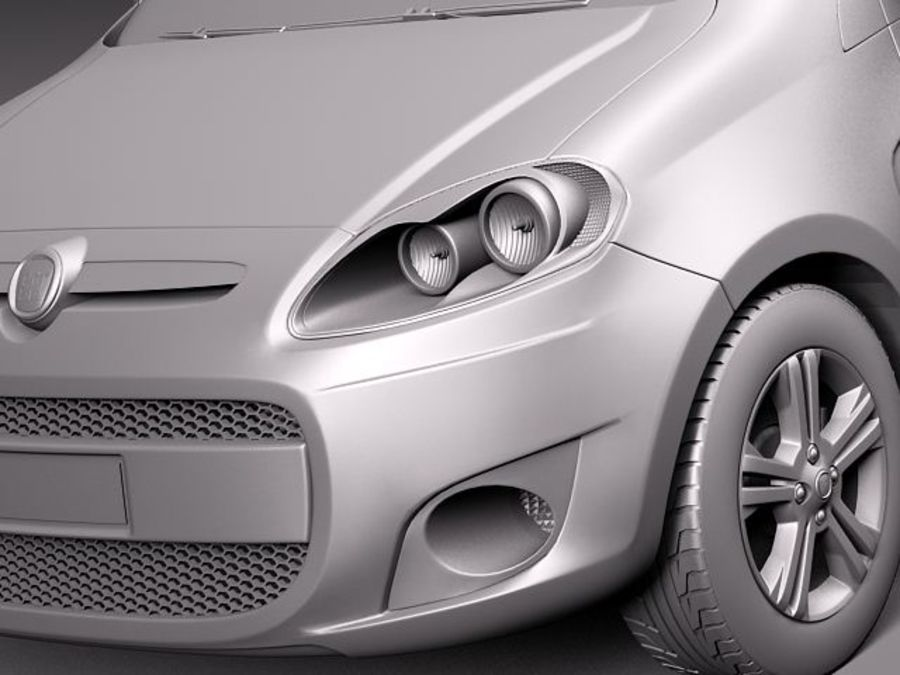 Fiat Palio 2012 royalty-free 3d model - Preview no. 10