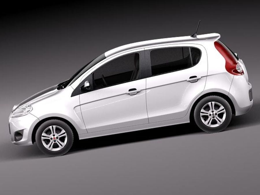 Fiat Palio 2012 royalty-free 3d model - Preview no. 7