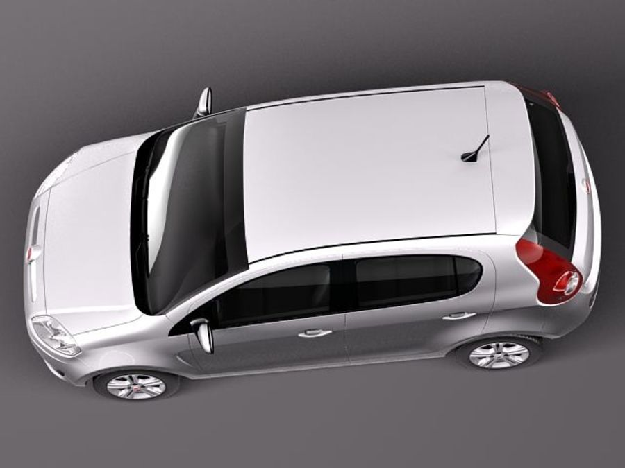 Fiat Palio 2012 royalty-free 3d model - Preview no. 8
