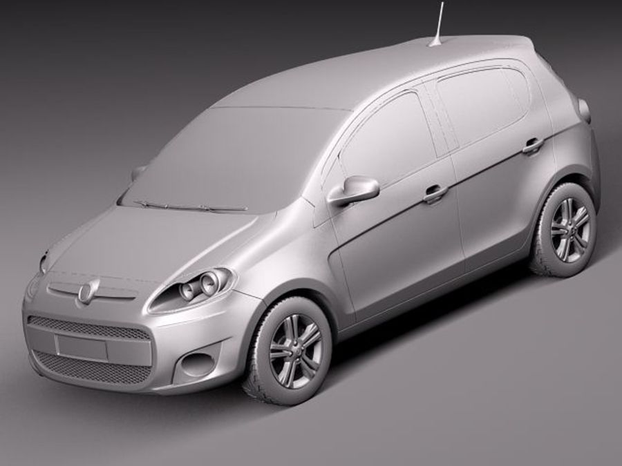 Fiat Palio 2012 royalty-free 3d model - Preview no. 9