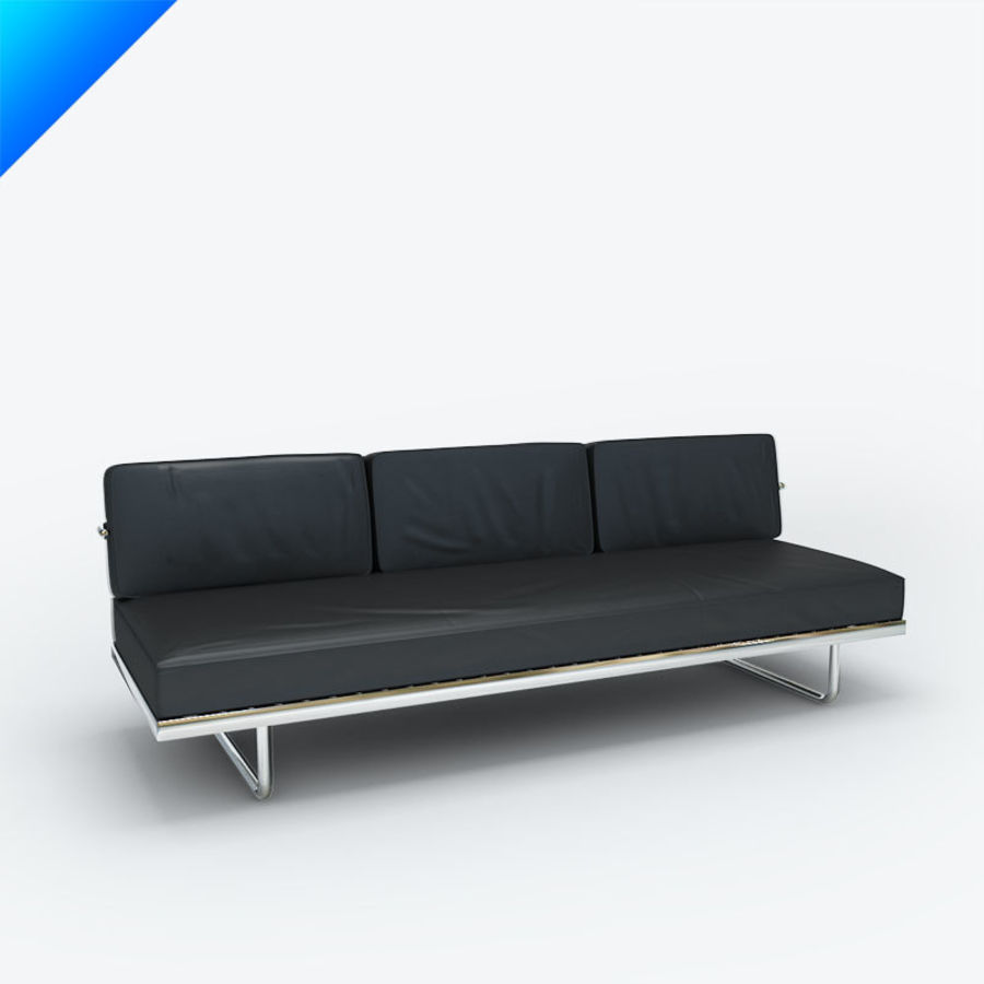 Cassina LC5 F Sofa Royalty Free 3d Model   Preview No. 1