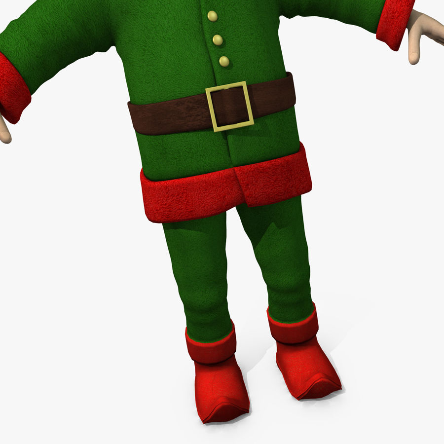 Christmas Elf royalty-free 3d model - Preview no. 7