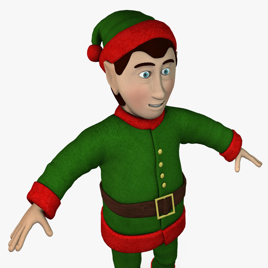 Christmas Elf royalty-free 3d model - Preview no. 5
