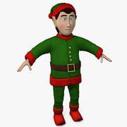 Elfo di Natale 3d model