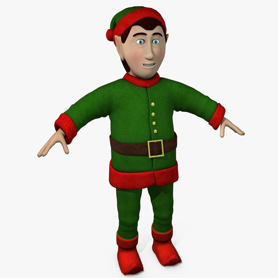 Christmas Elf royalty-free 3d model - Preview no. 1