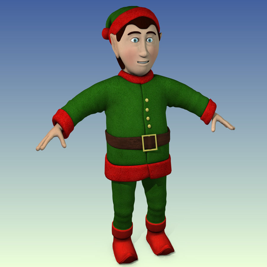 クリスマスのエルフ royalty-free 3d model - Preview no. 2