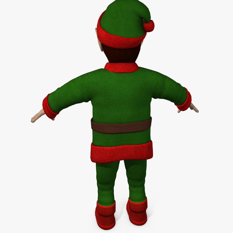 Christmas Elf royalty-free 3d model - Preview no. 4
