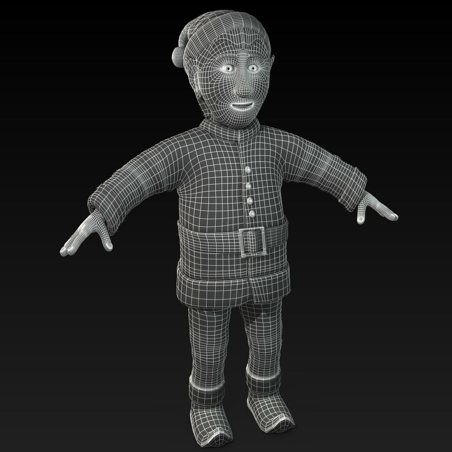 Christmas Elf royalty-free 3d model - Preview no. 9