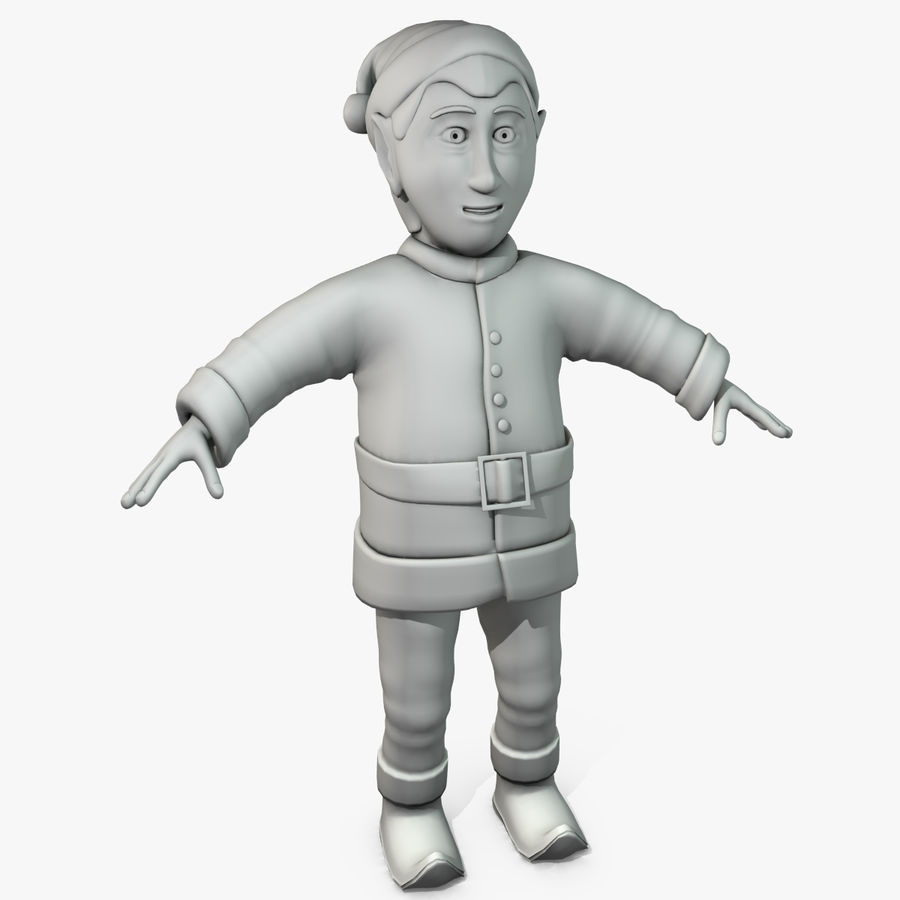 Christmas Elf royalty-free 3d model - Preview no. 8