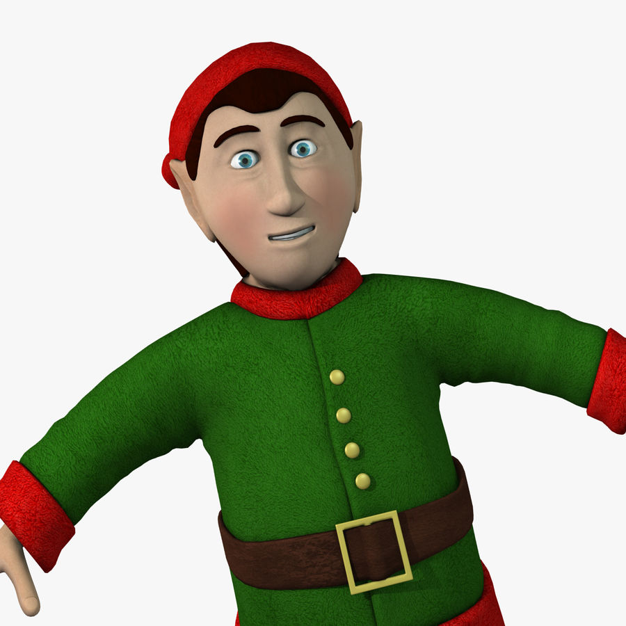 Christmas Elf royalty-free 3d model - Preview no. 6