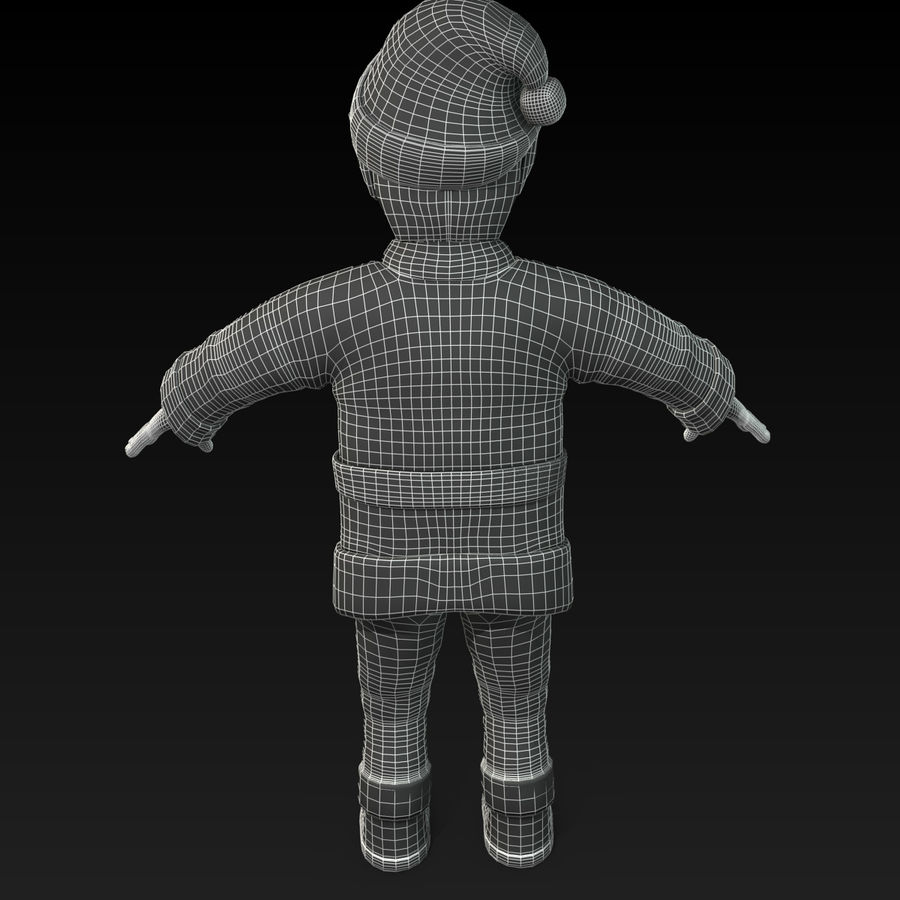 Christmas Elf royalty-free 3d model - Preview no. 11
