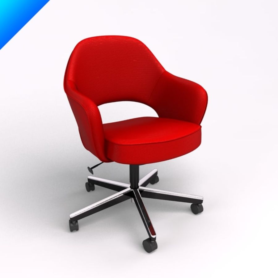 Knoll Saarinen Executive Conference Chair Royalty Free 3d Model Preview No 1