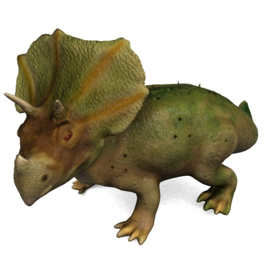 Triceratops royalty-free 3d model - Preview no. 3