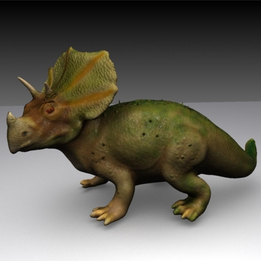 Triceratops royalty-free 3d model - Preview no. 2