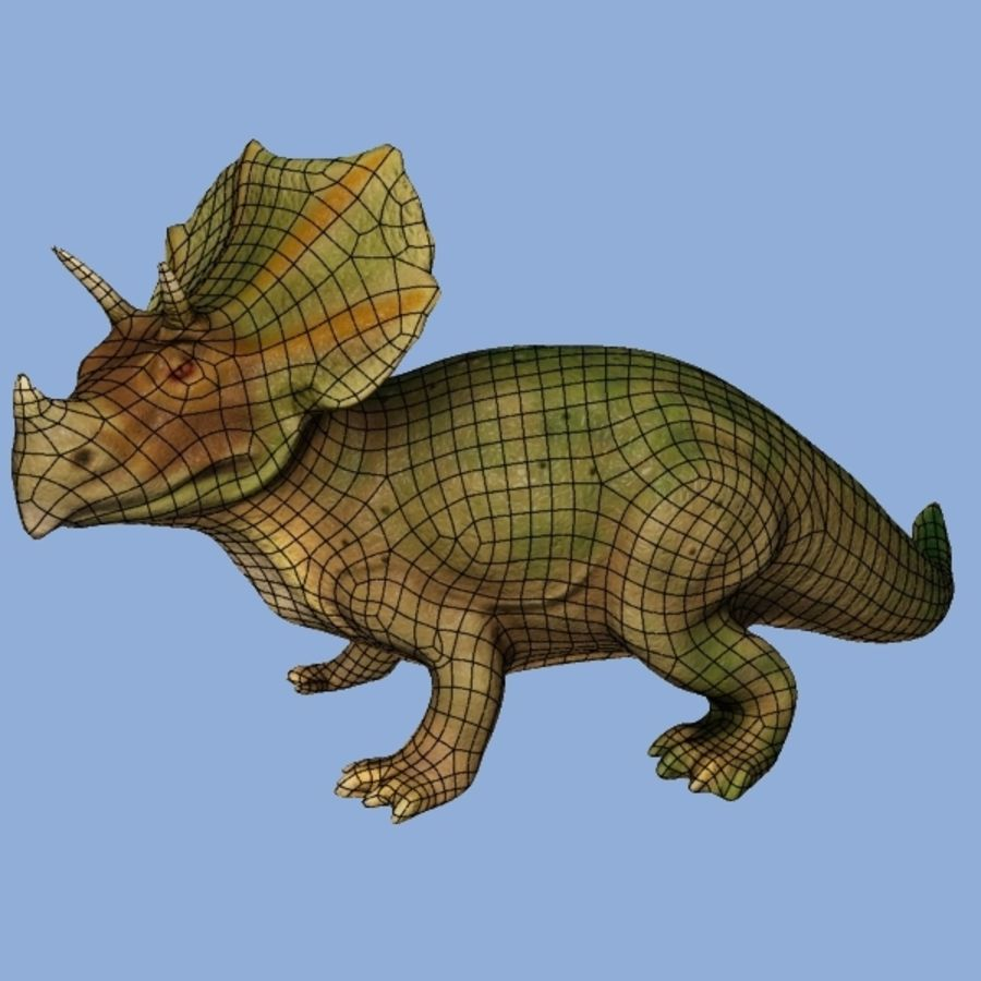 Triceratops royalty-free 3d model - Preview no. 7
