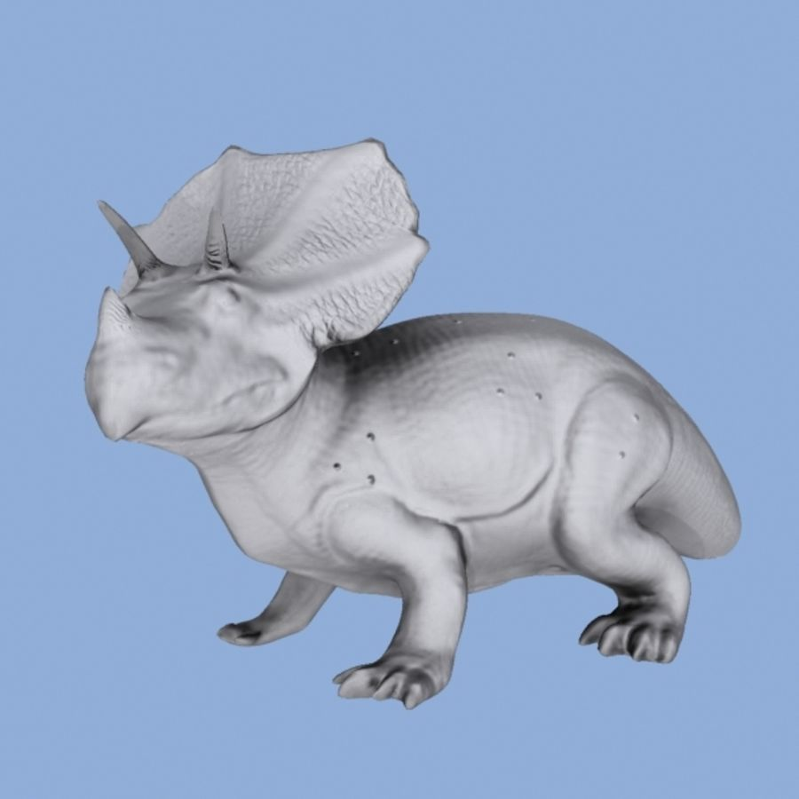 Triceratops royalty-free 3d model - Preview no. 6