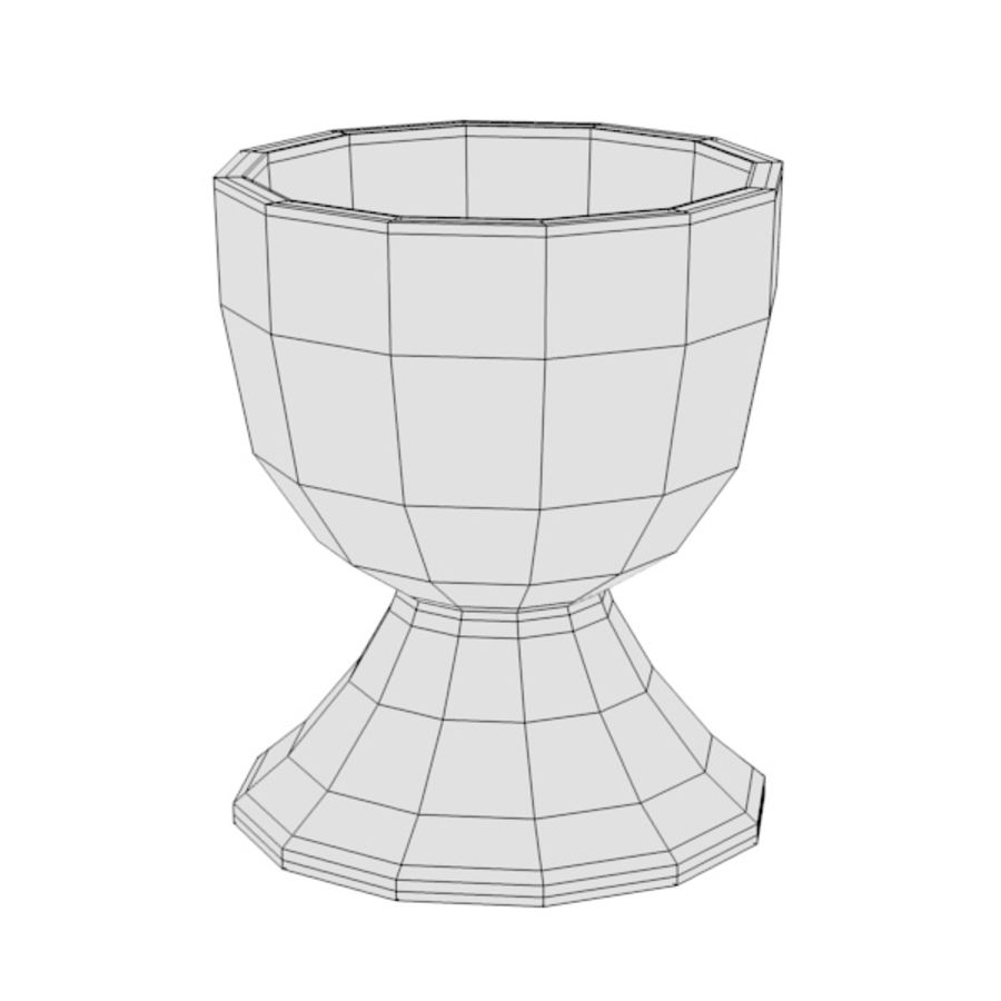 egg stand (cup) royalty-free 3d model - Preview no. 2