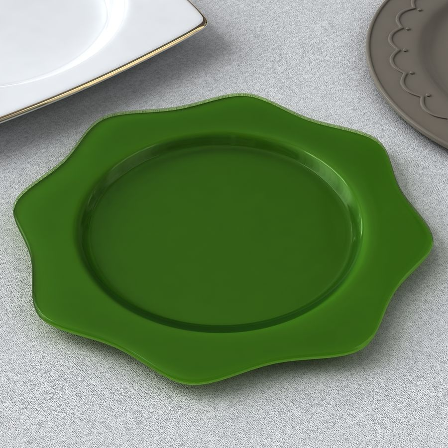 PLATES COLLECTION royalty-free 3d model - Preview no. 3
