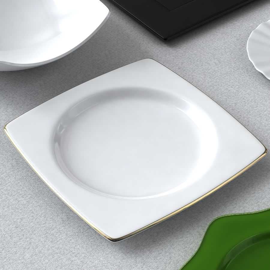 PLATES COLLECTION royalty-free 3d model - Preview no. 5