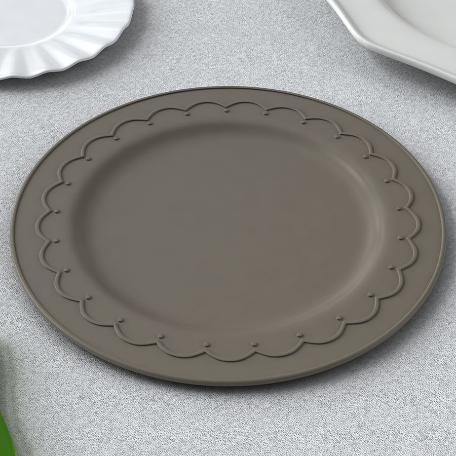PLATES COLLECTION royalty-free 3d model - Preview no. 6