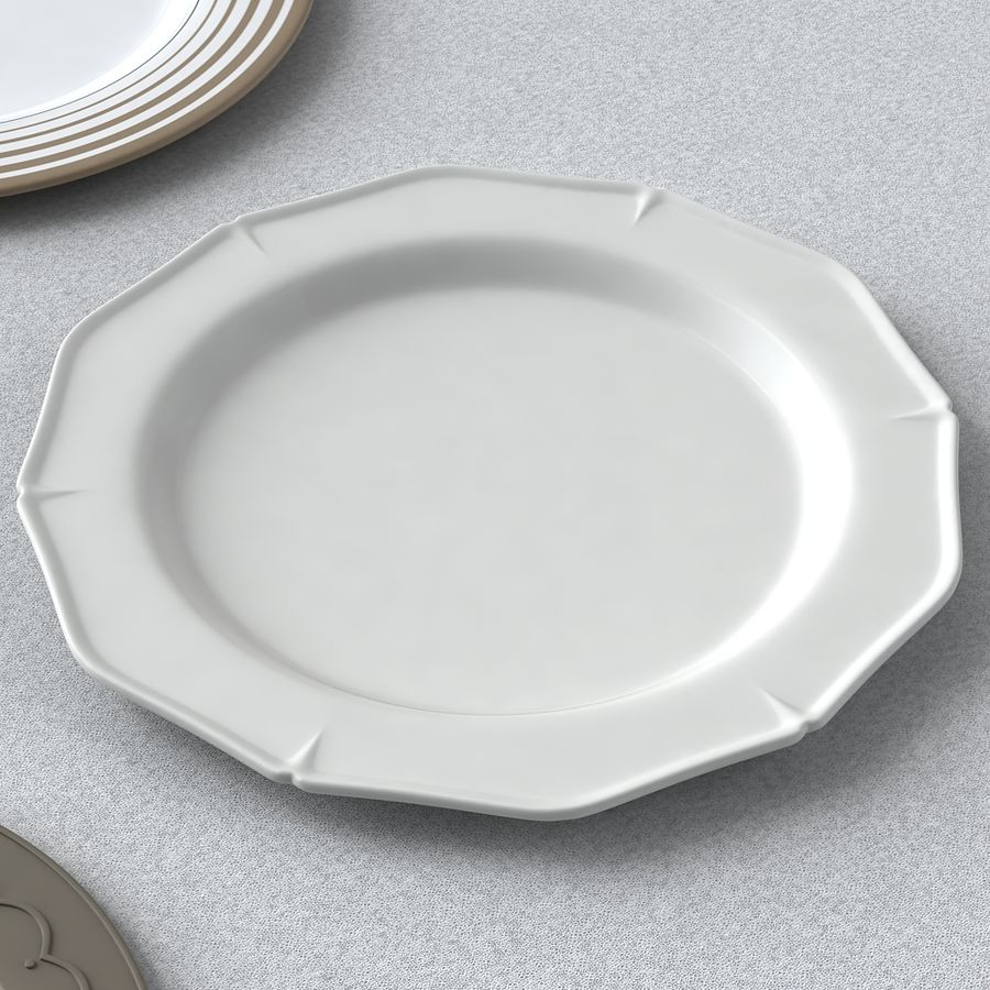 PLATES COLLECTION royalty-free 3d model - Preview no. 7