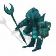 Amphibian Worrior + Shield&Stickwaepon 3d model