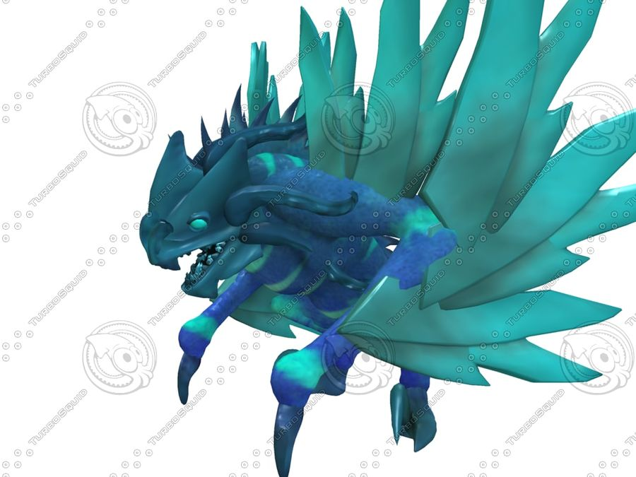 Ice Dragon royalty-free 3d model - Preview no. 6