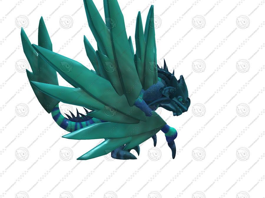 Ice Dragon royalty-free 3d model - Preview no. 1