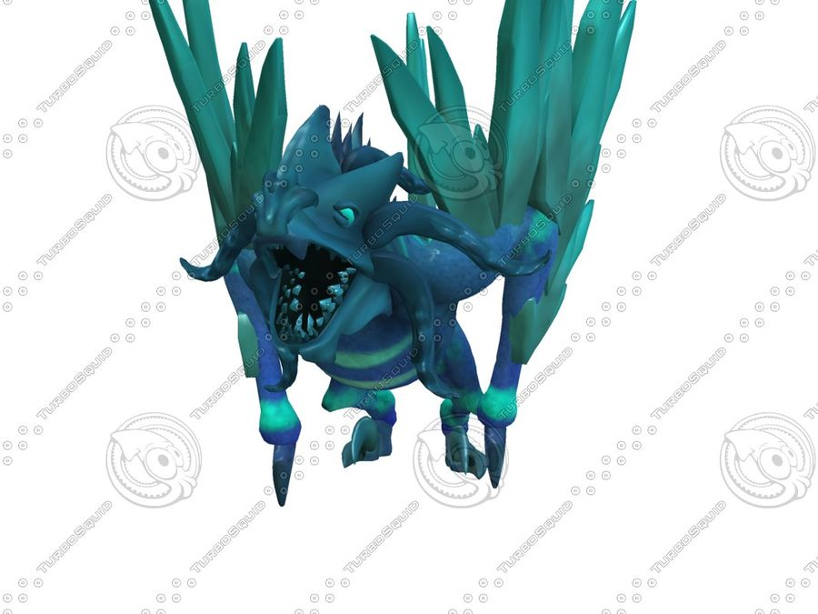 Ice Dragon royalty-free 3d model - Preview no. 2