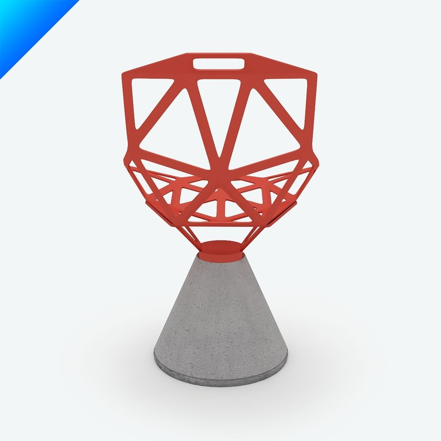 Grcic Chair One konstantin grcic chair one concrete swivel base 3d model 25 max