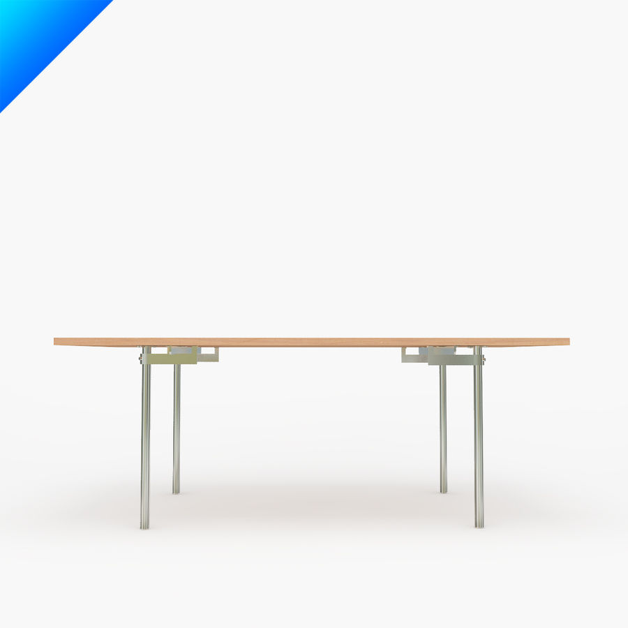 Hans Wegner CH318 Table royalty-free 3d model - Preview no. 2