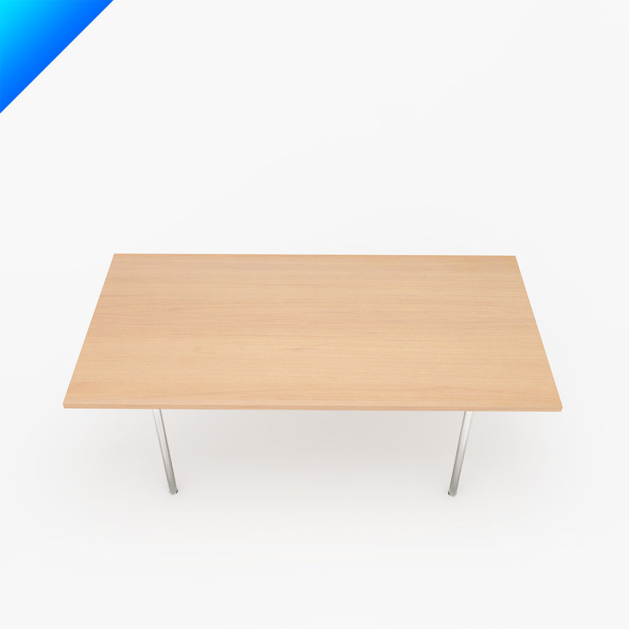 Hans Wegner CH318 Table royalty-free 3d model - Preview no. 3