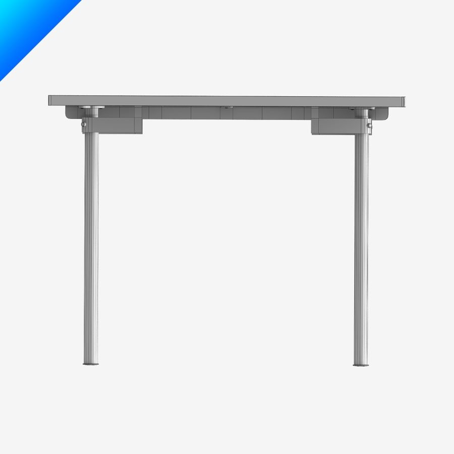 Hans Wegner CH318 Table royalty-free 3d model - Preview no. 11