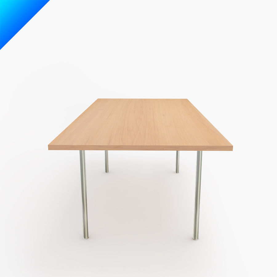 Hans Wegner CH318 Table royalty-free 3d model - Preview no. 4