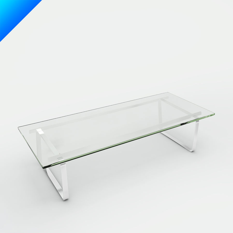 Hans Wegner CH108 Table royalty-free 3d model - Preview no. 1