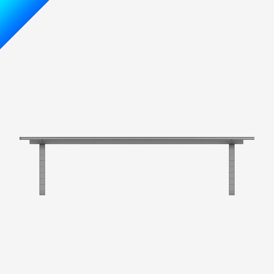 Hans Wegner CH108 Table royalty-free 3d model - Preview no. 5