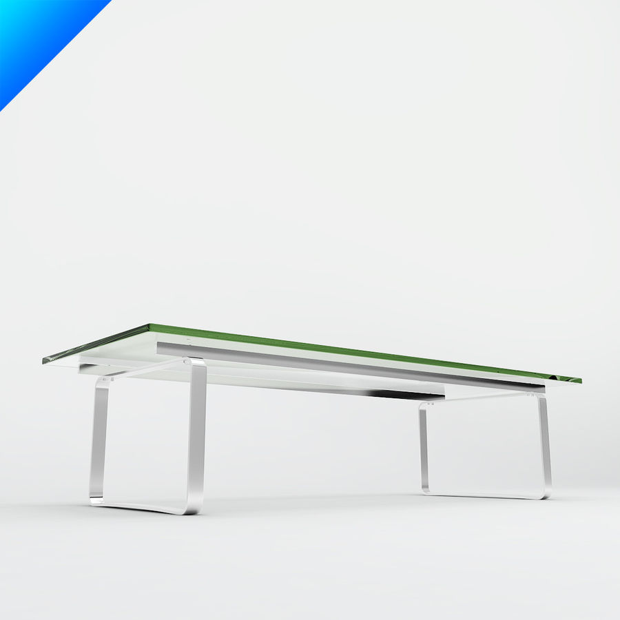 Hans Wegner CH108 Table royalty-free 3d model - Preview no. 4