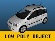 Fiat Panda (low poly) 3d model