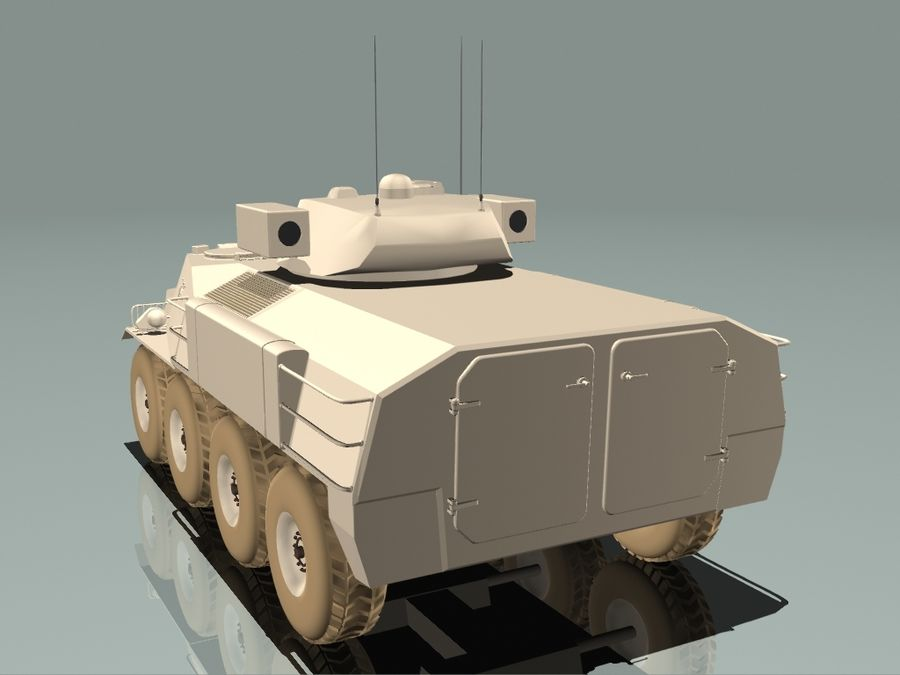 Armored Personnel Carrier royalty-free 3d model - Preview no. 6