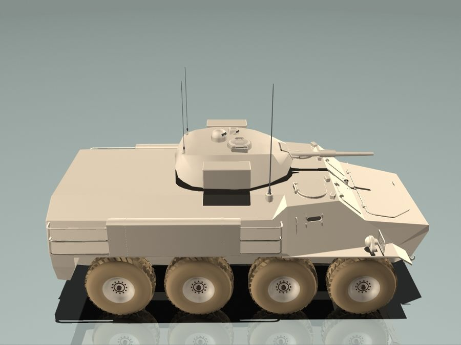 Armored Personnel Carrier royalty-free 3d model - Preview no. 10