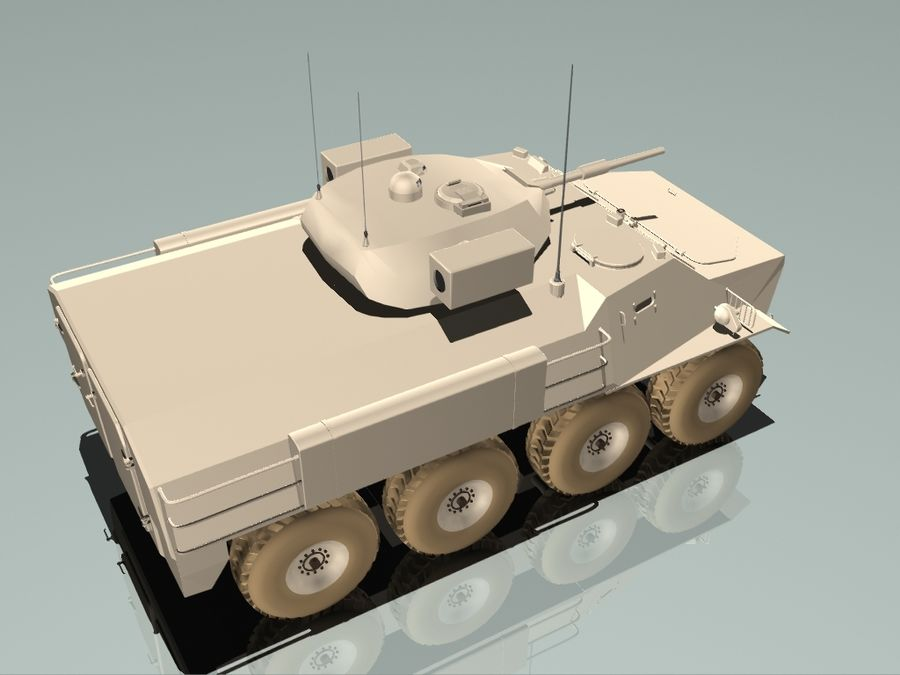 Armored Personnel Carrier royalty-free 3d model - Preview no. 9