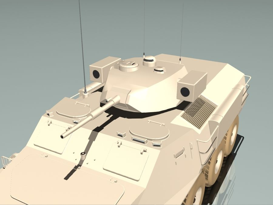 Armored Personnel Carrier royalty-free 3d model - Preview no. 3