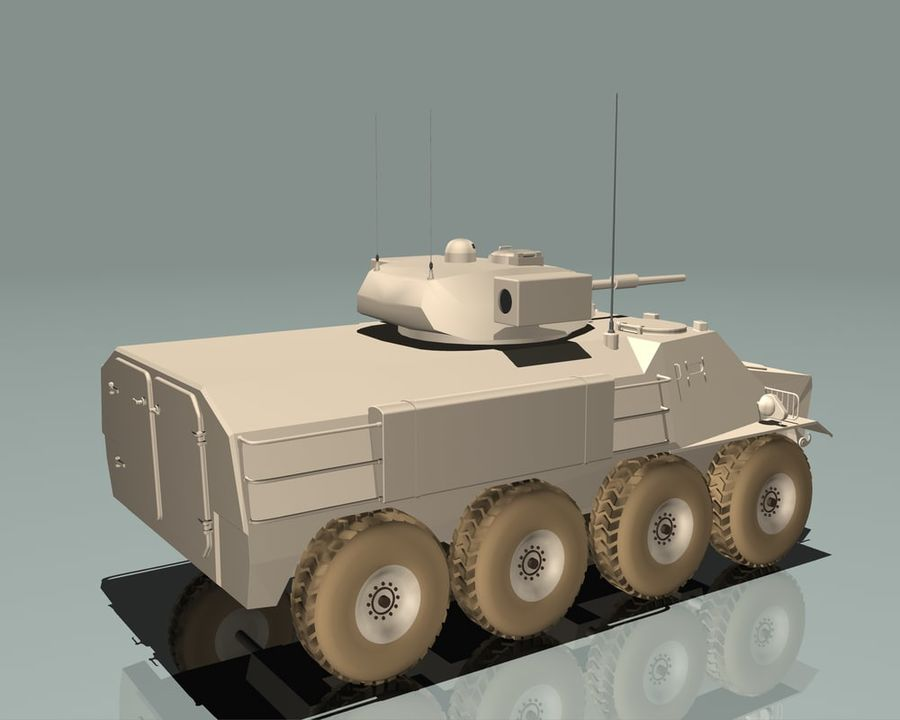 Armored Personnel Carrier royalty-free 3d model - Preview no. 16