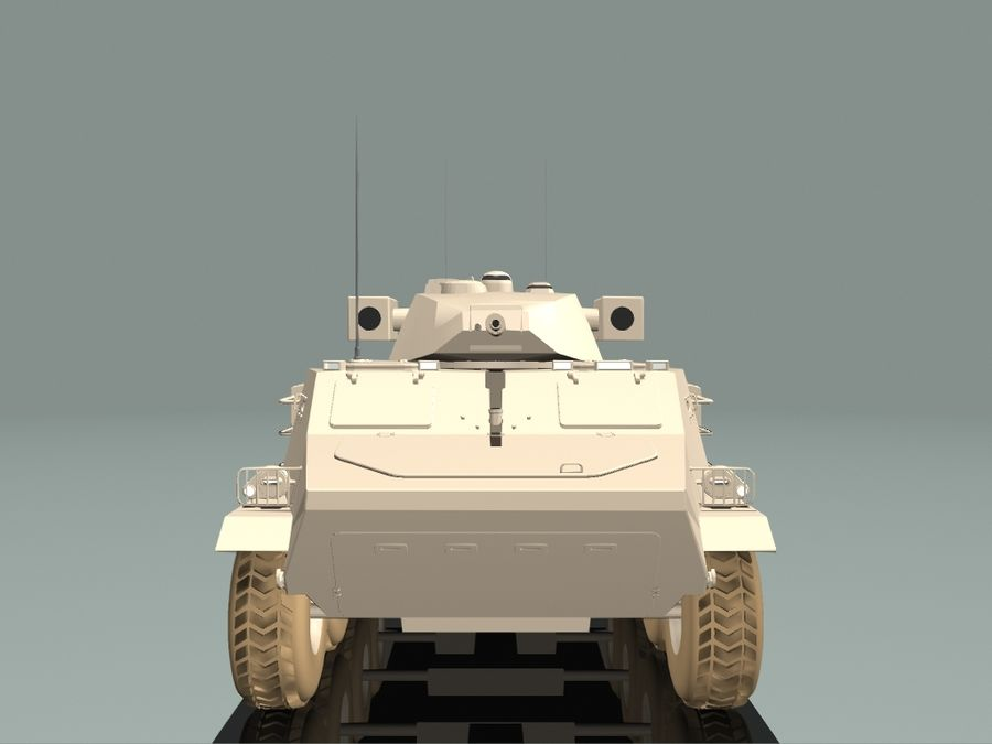 Armored Personnel Carrier royalty-free 3d model - Preview no. 14